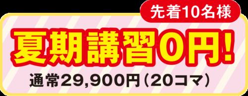 【先着10名様】夏期講習無料キャンペーンを実施します!
